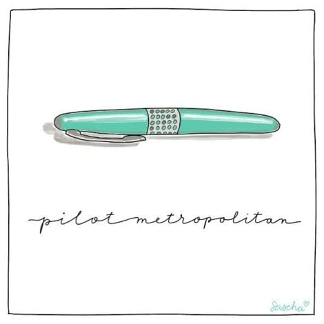 Printable illustration for your bullet journal pilot metropolitan fountain pen